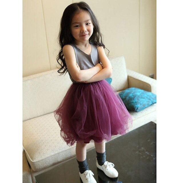 Весна и Осень детская одежда 2-6 лет девочки шифрования чистая пряжа колен Корейский принцесса юбки