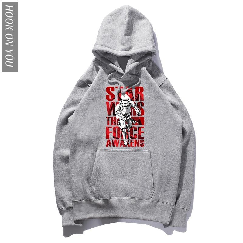 2018 Hot star wars Hoodie Printed men Long-Sleeve funny fashion Hoody Hip hop Men Hooded Autumn star wars sweatshirts