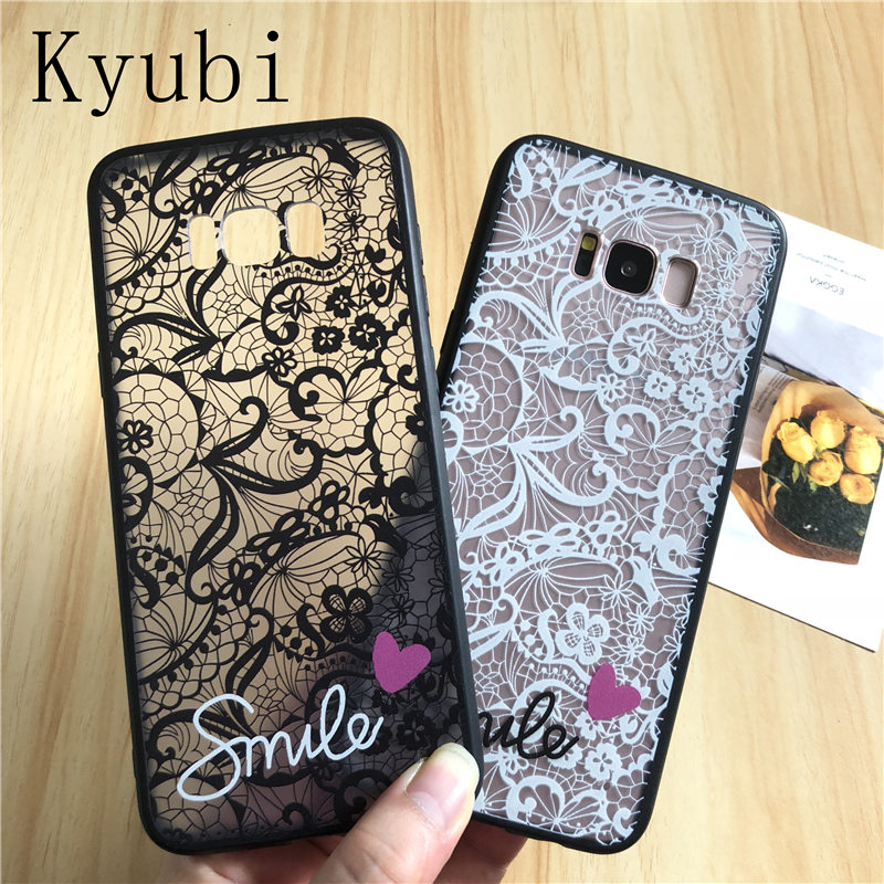 <font><b>Sexy</b></font> lace flower <font><b>case</b></font> for samsung s9 <font><b>s8</b></font> s7 s6 edge A6 A8 PLUS j3 j5 j7 2016 A3 A5 A7 2017 j2 pro j4 j6 2018 EU note 8 9 cover image