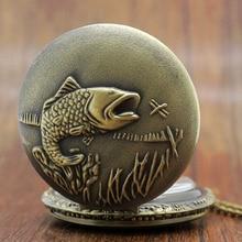 Hot Selling Fishing Fish Pocket Watch Relogio Masculino Relogio De Bolso P108C