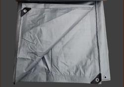 Spedizione gratuita grigio argento 4 m X 3 m impermeabile della tela di canapa, outdoor teloni, camion teloni, il sole e la pioggia di stoffa.