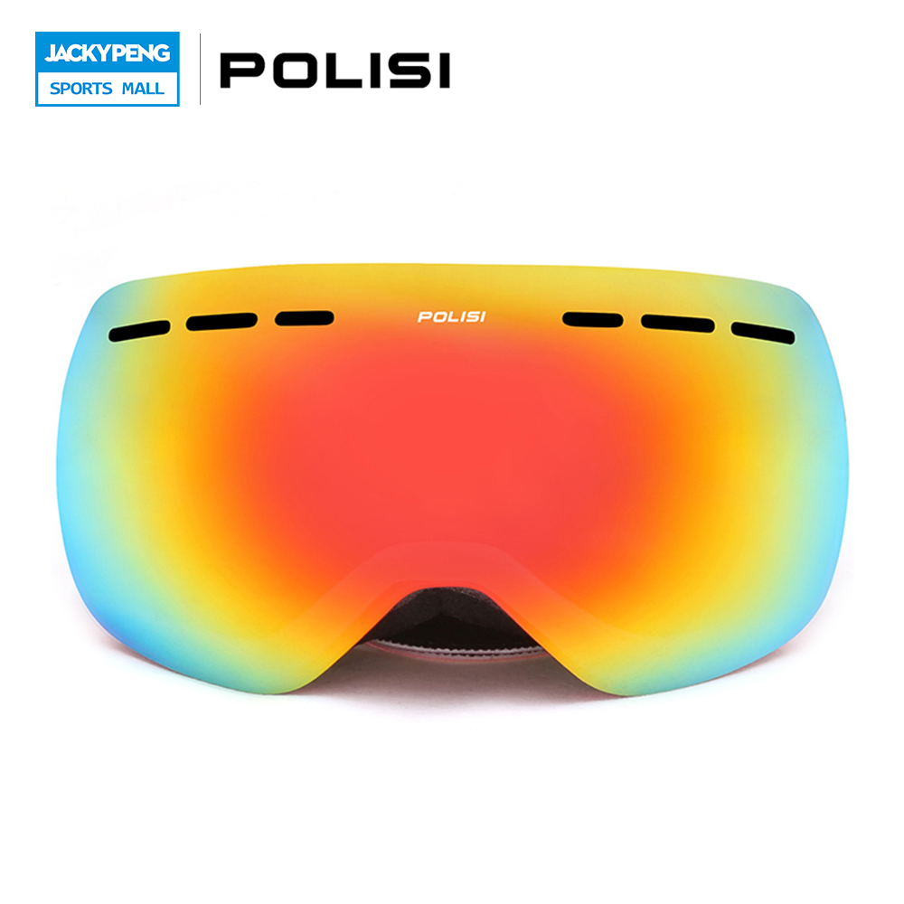 POLISI Winter Ski Snow Snowboard Snowmobile Goggles Double Layer Anti-Fog Lens Eyewear Men Women UV400 Skiing Skate Glasses цена 2016