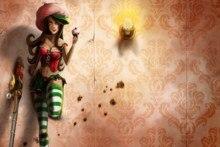 Home decoration fantasy Art Sexy cake girl Fantasy Silk Fabric Poster Print DM394