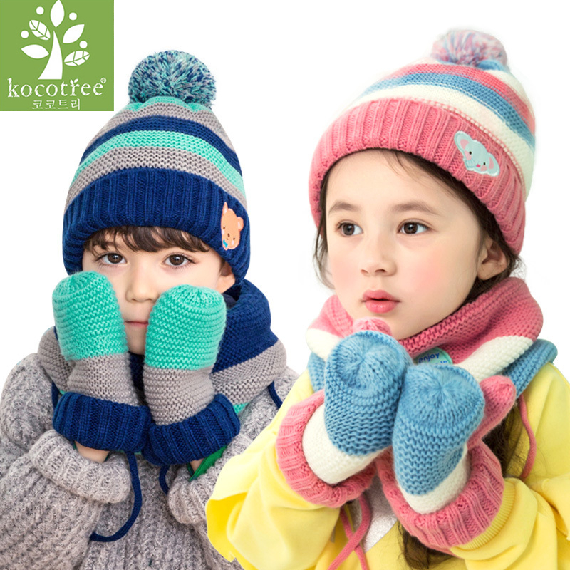 Babys Knitted Scarf And Hat Set Luxury Winter Warm Crochet Hats And Scarves  Cartoon Animal Elephant Beanie Hat For Boy And Girl 4c6e31cafc54