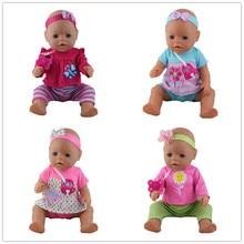 4 색 선택 1 = 헤어 밴드 + 코트 + 바지 + 젖꼭지 인형 옷 착용 적합 43cm 베이비 출생 zapf, 어린이 최고의 생일 선물