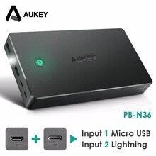 Aukey 20000 мАч Мощность Bank Dual USB внешний Мощность батареи Портативный мобильного телефона Зарядное устройство для Xiaomi iPhone Samsung Galaxy S8