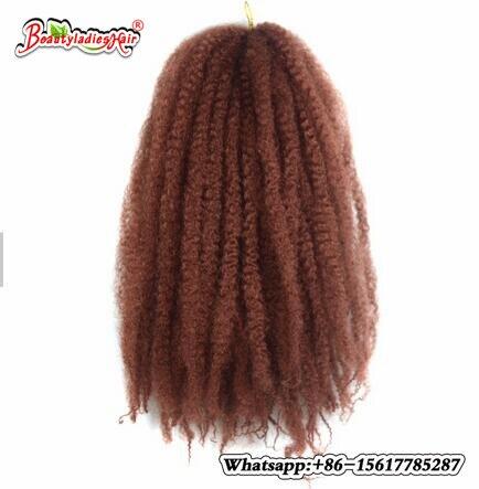 18inch 100g Synthetic Marley Braids Crochet Hair Afro Twist Braiding Hair Extensions High Temperature Fiber 1PCS