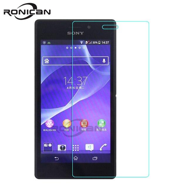 9H Hardness 2.5D Premium Tempered Glass FilmScreen Protector For Sony Xperia M2 S50h D2302 D2303 D2306 Dual M2 Aqua D2403 D2406
