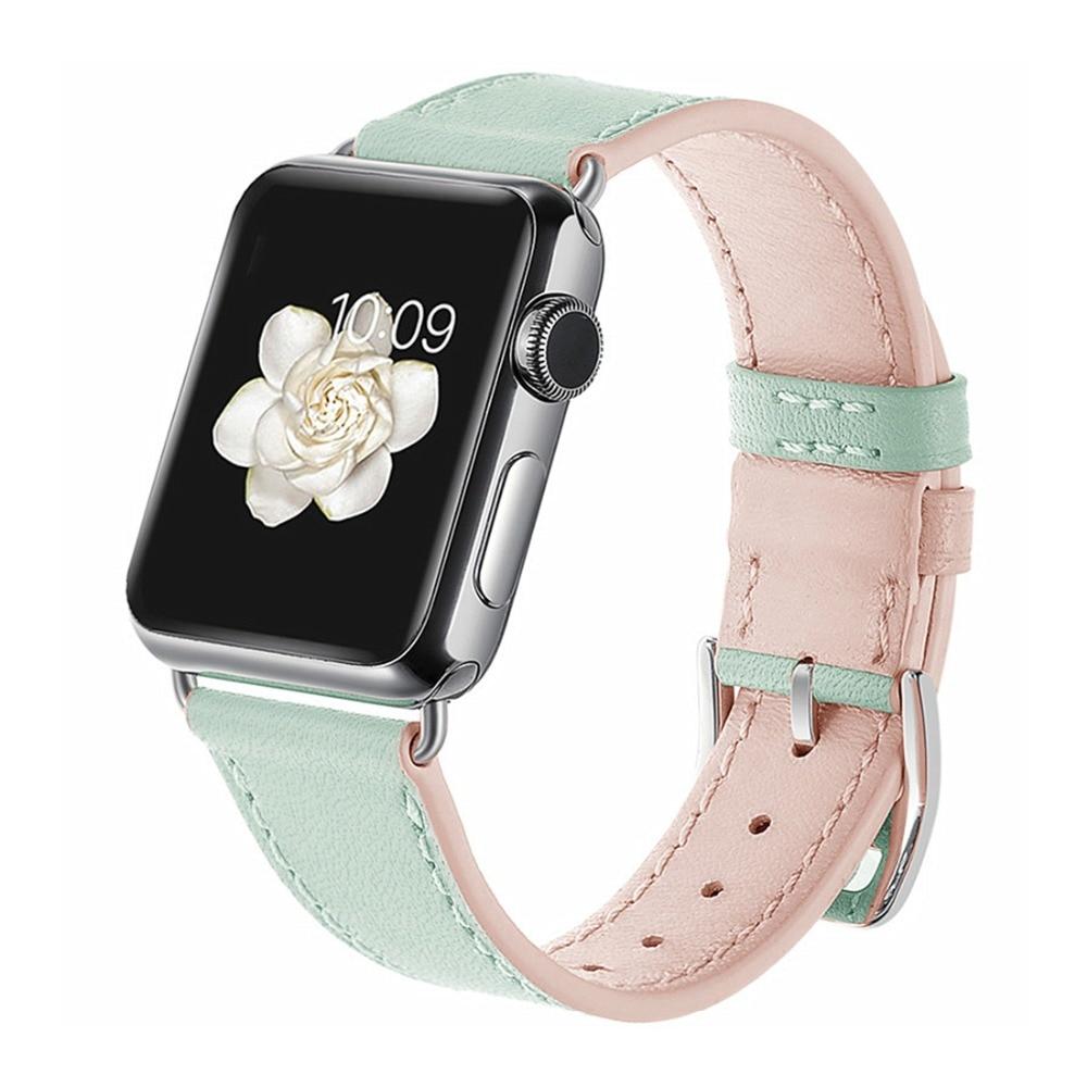 Cinturino in pelle Per Apple Watch band 4 42 millimetri 38 millimetri iwatch 3 band 44 millimetri 40 millimetri vigilanza del braccialetto correa cinturino In Pelle cintura Fibbia In Metallo