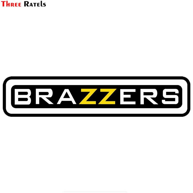 Drie Ratels TZ-1384 #10*46.3cm 4.9*22.5cm auto sticker brazzers kleurrijke grappige auto stickers auto decals verwijderbare
