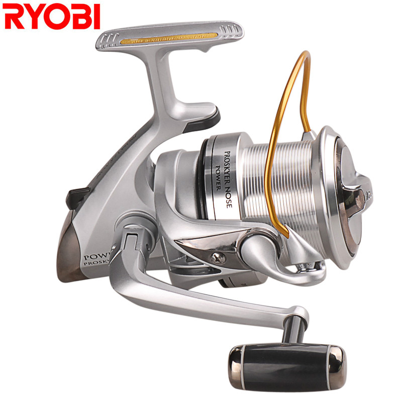 RYOBI Super Strength Full Metal Spinning Fishing Reel 4+1BB 3.9:1 Max Drag 12kg Molinete Pesca Peche Carretilhas De Pescaria