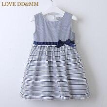 فساتين للبنات من LOVE DD & MM موضة صيف 2020 ملابس أطفال جديدة للبنات فستان بدون أكمام بخصر مخطط جميل
