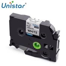 Unistar TZe 231 compatible for Brother P-touch tze-231 12mm Label Tape TZ-231 335 Black on White Mixed Color Label Maker TZe-231