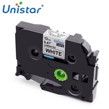 Unistar TZe 231 compatible for Brother P-touch tze-231 12mm Label Tape TZ-231 335 Black on White Mixed Color Label Maker TZe-231(China)