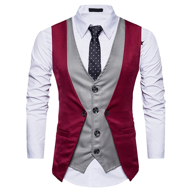 HEFLASHOR Vest Gilet Men Vintage Retro Male Waistcoat Sleeveless Casual Chalecos Para Hombre Business For Men Dress Vest