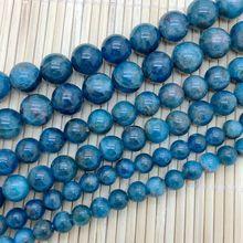 Apatita Azul Del Grano de la Piedra Natural Ronda Una Calidad Buena Azul 6mm, 8mm 10mm Rare Joyería DIY también Citrino Labradorita Piedra Del Sol
