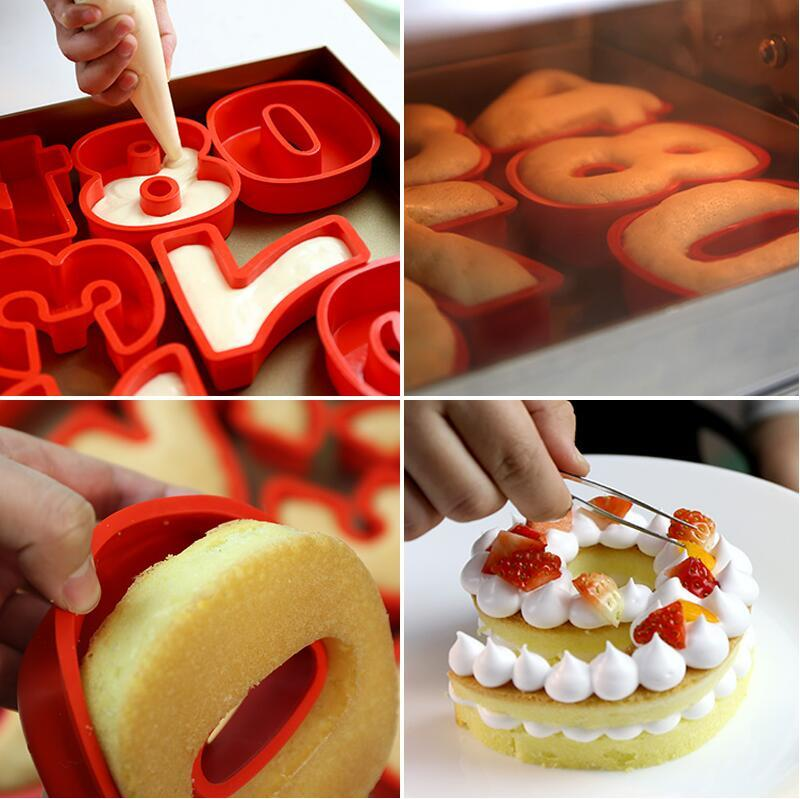 8 Inch 0 9 Silicone Digital Cake Mold Cake Numbers Shape