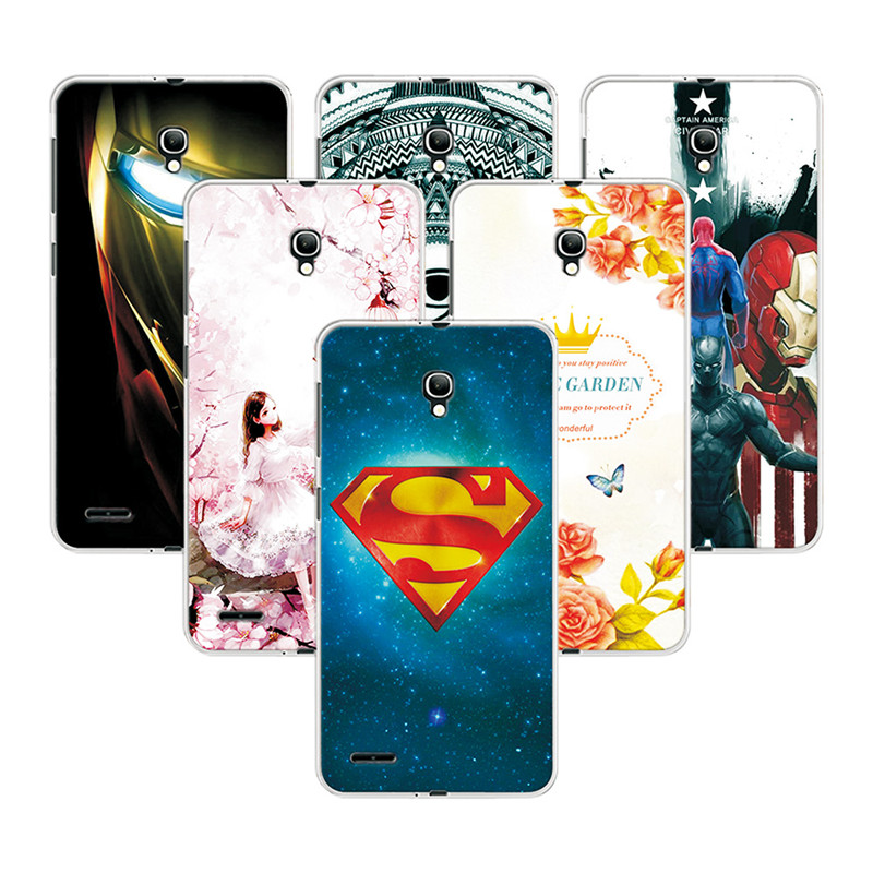 Fashion Attractive Case For <font><b>Alcatel</b></font> One Touch Pop 2 (5) 7043 7043Y <font><b>7043K</b></font> 7044 Super Iron Man Painted Back Protector +Free gift image