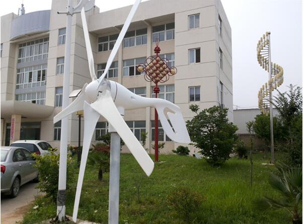 Manufacturer direct sales! Small 400w 12v/24v 3 phase AC wind mill with controller for garden