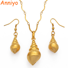 цена на Anniyo PNG Shell Gold Color Pendant Necklaces/Earrings for Women,Papua New Guinea Jewellery Ethnic Gifts #114306