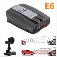 DHL, 20 шт., E6, 360 градусов, автомобильная Кобра, скорость, лазер, собака, радар, детектор, gps, голосовое оповещение, безопасность(Цвет: черный