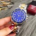 42 MM Mar Azul Dial Famosa Marca de Relojes Masculinos Función Día Fecha Deportes Moda Hombres Relojes de Cuarzo