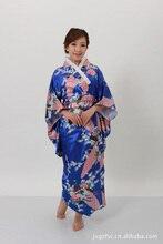Chinese Traditional  Long Gown Women's Satin Kimono Robe недорого