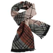 Winter Fashion Scarf Luxury Brand Men Business Scarf Patchwork Tartan Jacquard Scarfs YJWD307