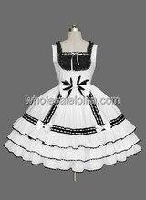 Cheap Black and White Sleeveless Lolita Dress Under $70