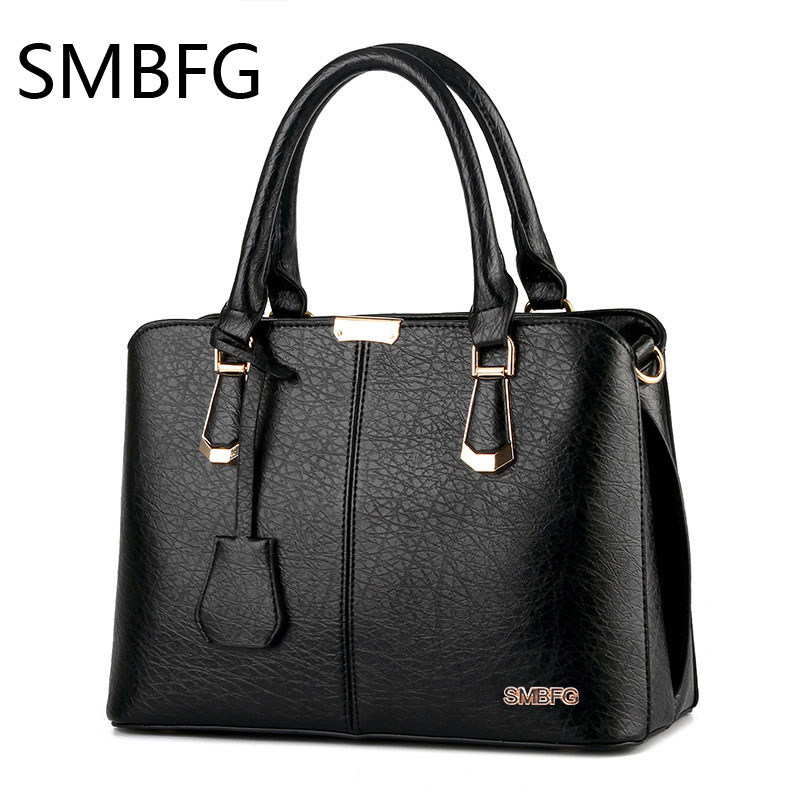 women leather handbags Fashion PU Leather Top-handle Handbag Solid Ladies Lether Shoulder Bag Casual Large Tote Crossbody B021