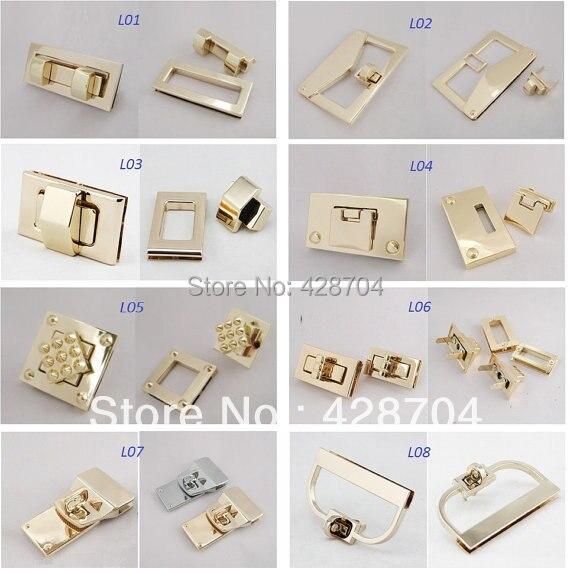 10 High quality Twist Locks Flip locks square or rectangle shape for bags DIY bag making