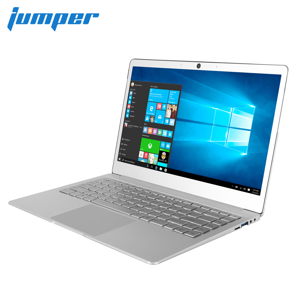 14 Inch IPS Screen Laptop Jumper EZbook X4 Windows 10 Notebook Intel Celeron J3455 6G 128G Ultrabook Backlit Keyboard Metal Case