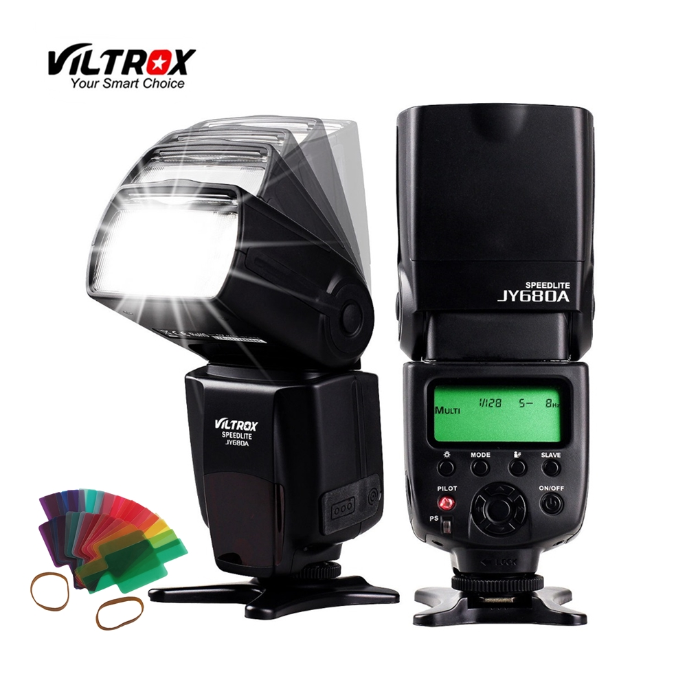 VILTROX JY-680A Camera LCD Flash Speedlite hot shoe light for Canon 1300D 760D 80D 5D IV 7D Nikon D5 D7200 D5500 Pentax Olympus universal camera inseesi in 560 iv plus wireless flash or viltrox jy 680a flash speedlite with lcd screen for canon nikon pentax