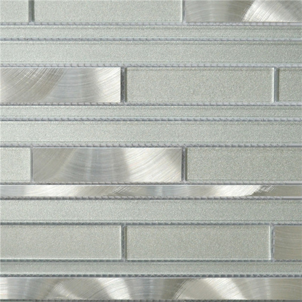White And Silver Interlocking Metal Gl Mosaic Tile Kitchen Backsplash Bathroom Wall Mag0027 On Aliexpress Alibaba Group