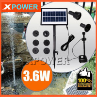 JT 170250DBL 3.6W 100CM 200L/H 8V DC Brushless Motor Solar Water Pump Kit Simulation Landscape Fountain with 9V Solar Panel
