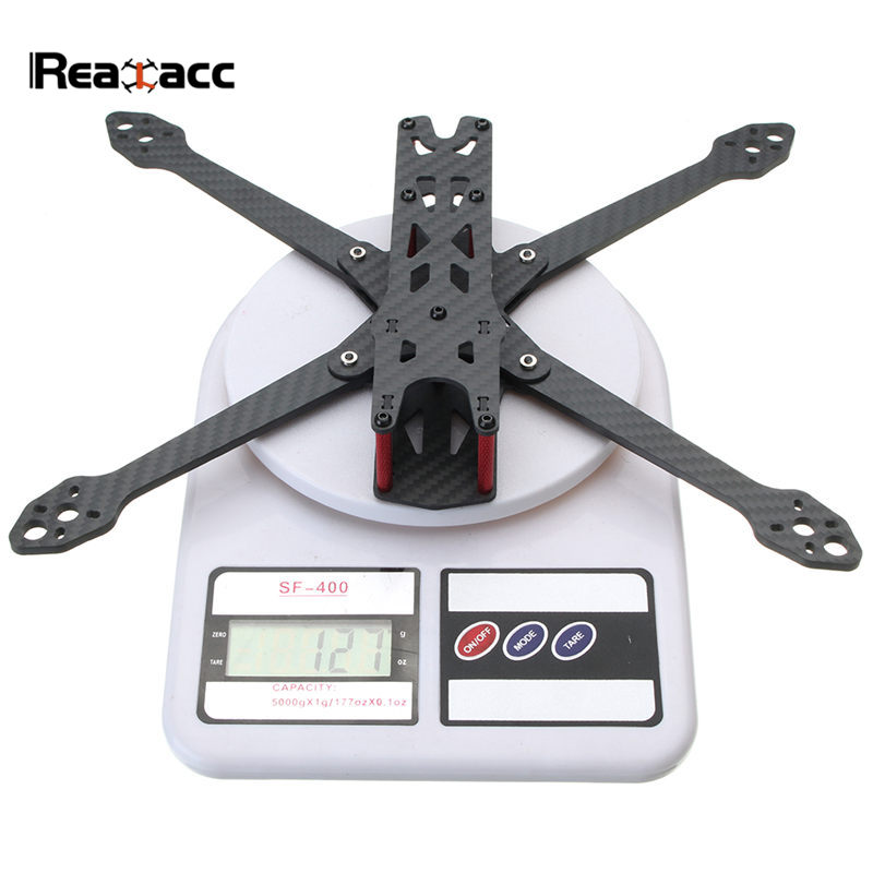 Realacc Martian IV 7 Inch 300mm Wheelbase 4mm Arm Carbon Fiber Frame Kit For RC Racing Drone FPV Models Spare Part DIY Accs miko rhino3 150mm wheelbase 3 inch 6mm arm carbon fiber molded integrated rc fpv racing frame kit for diy multicopter drone part