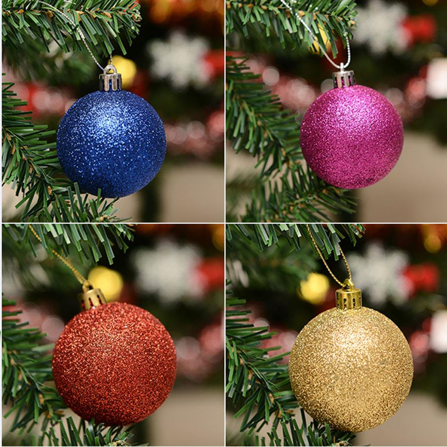 large plastic christmas balls 24 pcslot for christmas tree decoration ornaments 8 cm 6 cm 4 cm wholesale styrofoam balls in ball ornaments from home - Large Plastic Christmas Decorations