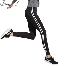 Fitness athleisure women leggings 2017 new arrival striped slim splice black long leggins clothes ladieswear legging ladieswear