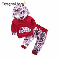 SAMGAMI BABY 2pcs/set Cotton Tiger Long Sleeve Hoodies Pants Newborn Boy Sets Clothes Bebe Girl Outfit Toddler Suit 0-3Y