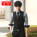 Slim Men Waistcoat  Fashion Business Casual Vest Chest Available S M L XL XXL 3XL