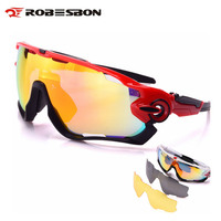 ROBESBON Polarized Cycling Glasses 3 Lens MTB Mountain Road Bike Bicycle Running Goggles Outdoor Sports Sunglasses