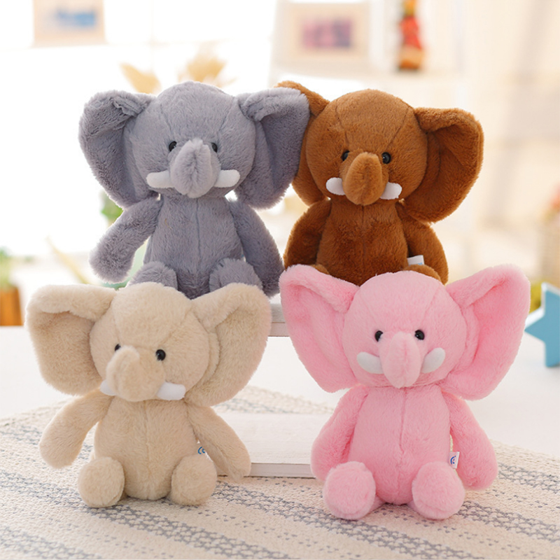 25cm Appease Elephant Infant Soft Stuffed Animals Little Elephant Plush Toys Baby Sleep Toys Bed Decoration Plush Toy for Kid