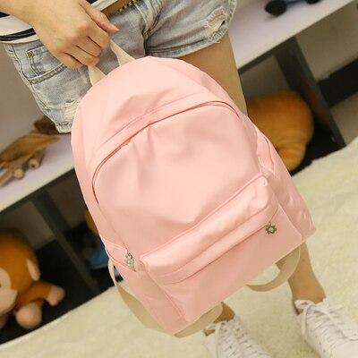 Summer simple fresh design silk oxford backpack fashion girls leisure bag student school book bag small