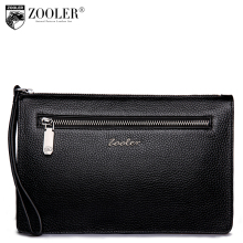 ZOOLER Brand Men Envelope Clutch Bag Brand genuine leather Wallet Leather Genuine bag Cowhide Wallets hasp Purses #65065