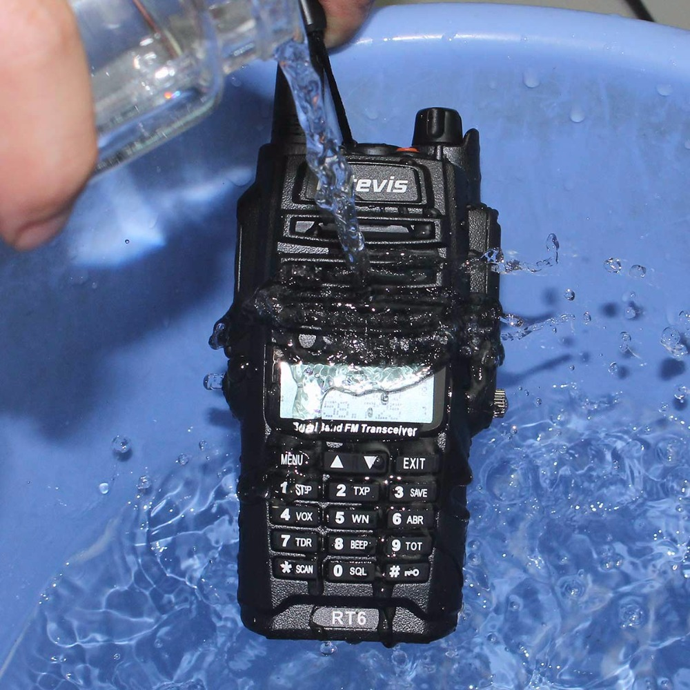 2st IP67 Vattentät Walkie Talkie Par Retevis RT6 5W 128CH VHF UHF FM - Walkie talkie - Foto 2