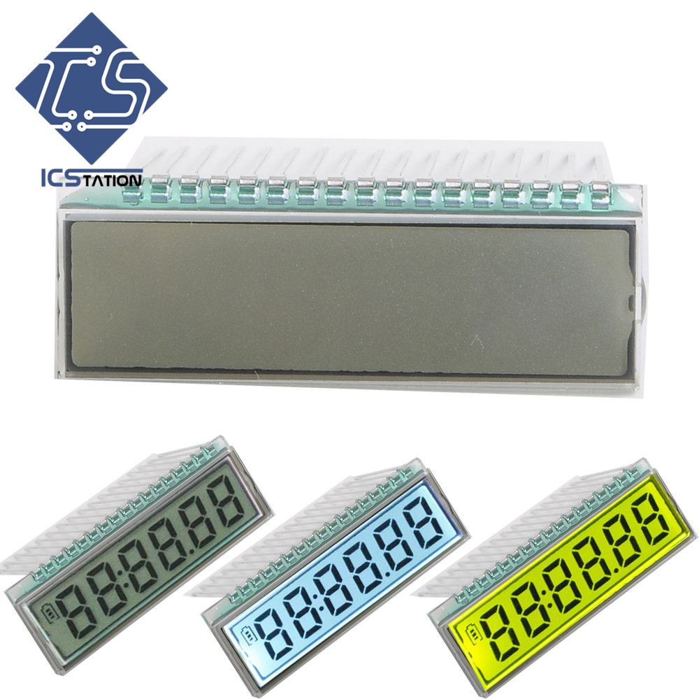 2pcs GDC0570 17PIN TN Positive 6 Digit 7 Segment Dynamic Driving LCD Display Panel Module 3V 40*14*2.8mm(Without LED Backlight) 1 9 lcd 8 digit flash calculator 3 aaa