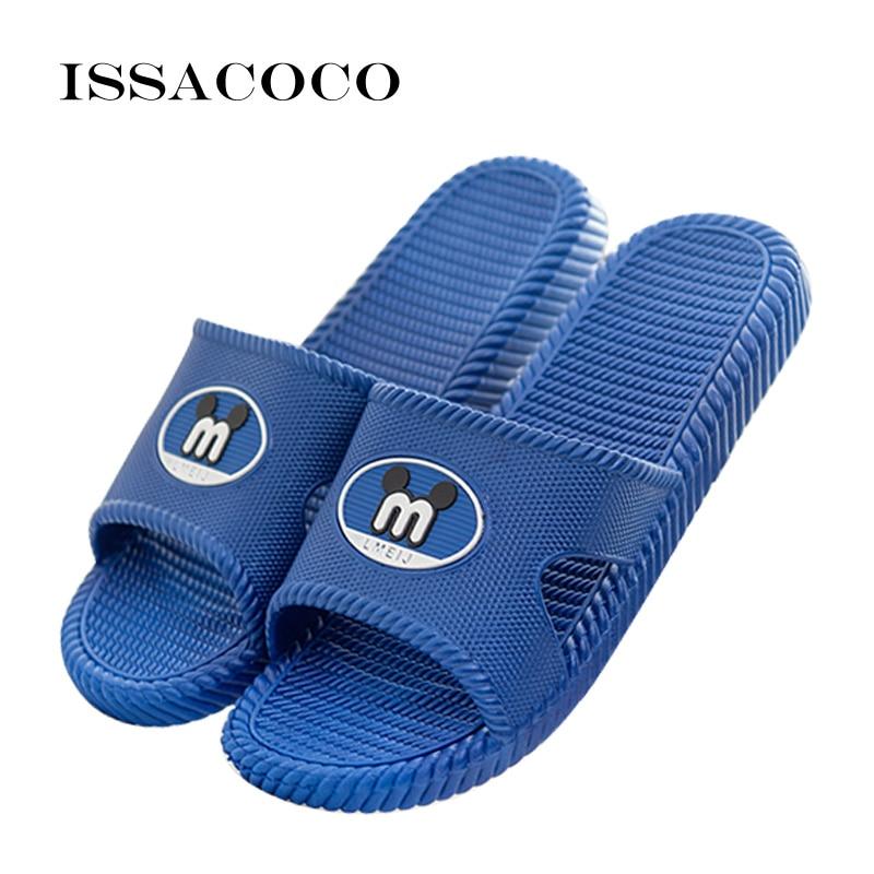 ISSACOCO 2018 Ev Terlik Ayakkabı Sandalet Banyo Ayakkabı Yüksek - Erkek Ayakkabıları