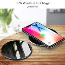 10W Qi Wireless Charger For iPhone X 8 Plus Fast Charging Pad For Samsung Galaxy S9 S8 Plus S7 S6 Edge Note 9 8 5 USB Charger atorch qi wireless charger mobile phone tester for iphone x 8 plus samsung galaxy s8 s9 s7 usb fast charger lcd tester display