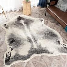 Большой размер 170x220 см корова леопард Барсук ZebraPrinted воловья искусственная кожа Нескользящие коврики ковер для гостиной