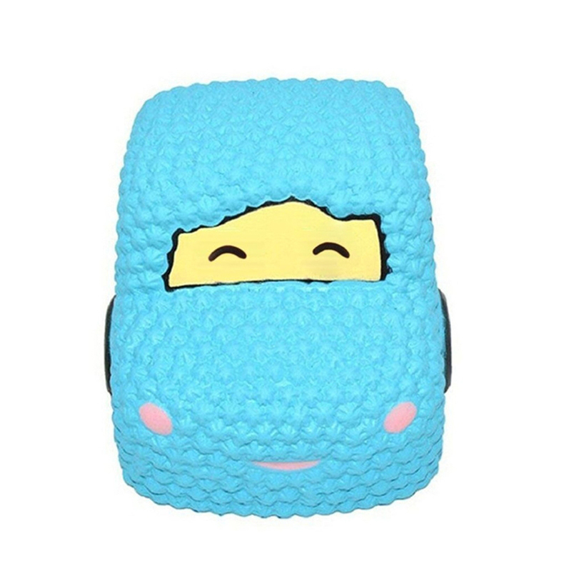 Jumbo Kawaii Cartoon Car Squishy Slow Rising Creative Bread Scented Soft Squeeze Toy Anti Stress For Kid Funny Gift